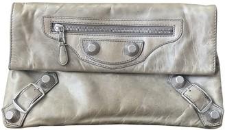 Balenciaga Envelop Ecru Leather Clutch bags