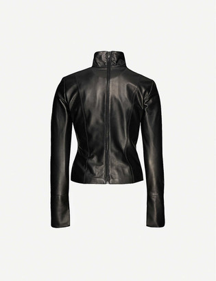 16Arlington Yukie high-neck leather top
