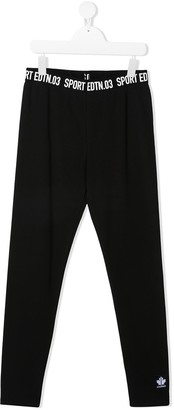 DSQUARED2 TEEN slogan waistband trousers