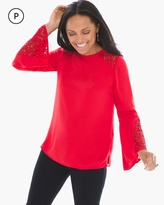 Chico's Lace Cutout Top