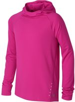 New Balance Girls 7-16 Long Sleeve Hooded Performance Tee