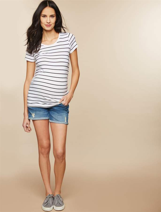 2b836097c4469 Maternity Jean Shorts - ShopStyle