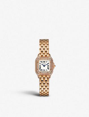 Cartier Panthere de mini 18ct rose-gold and diamond watch