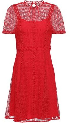MICHAEL Michael Kors Embroider-trimmed Guipure Lace Mini Dress