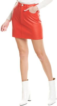 Rag & Bone Moss Leather Pencil Skirt