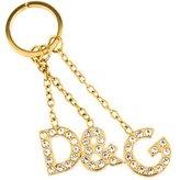 Dolce & Gabbana Embellished Logo Keychain