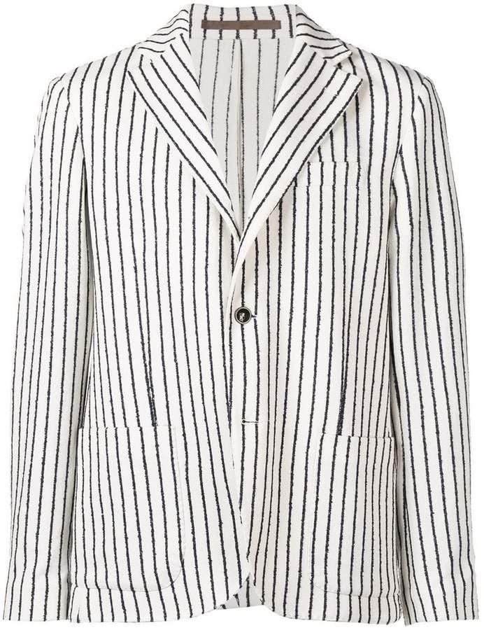 Eleventy striped single breasted blazer