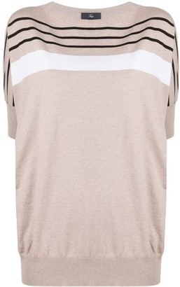 Fay Striped Cotton Knitted Top