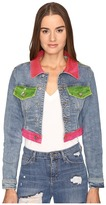 Jeremy Scott Multi Clear Denim Jacket Women's Coat