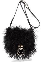 Diane von Furstenberg Love Power Shearling And Textured-Leather Shoulder Bag