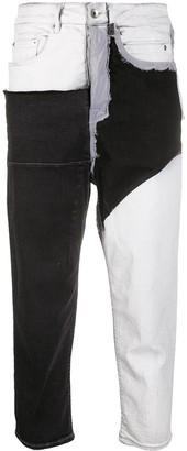 Rick Owens Colour Block Jeans