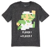 JEM Boy's Play Super Mario Bros. - Luigi Graphic T-Shirt