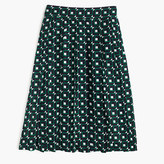 J.Crew Petite double-pleated midi skirt in shadowbox print