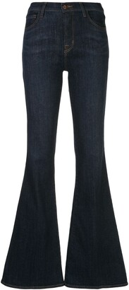 J Brand Valentina low-rise flared jeans