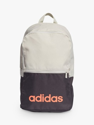 adidas Linear Classic Daily Backpack, Orbit Grey/Coral