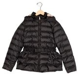 Burberry Girls' Hooded Down Jacket