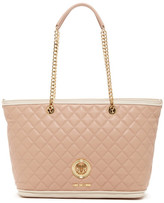 Love Moschino Quilted Medallion Tote