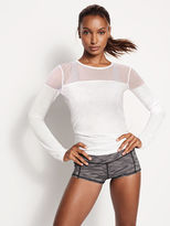 Victoria's Secret Victorias Secret Mesh Long-sleeve Tee