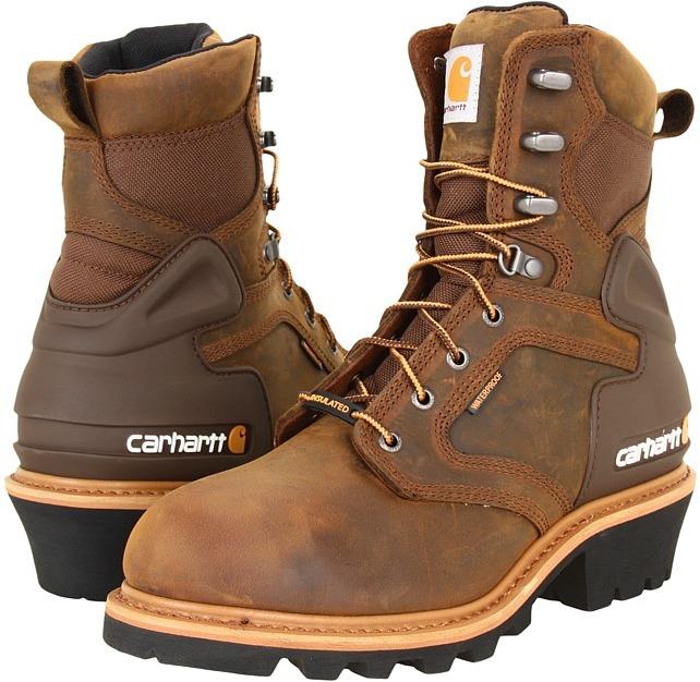 "Carhartt CML8129 8"" WP Insulated Soft Toe Logger Boot"
