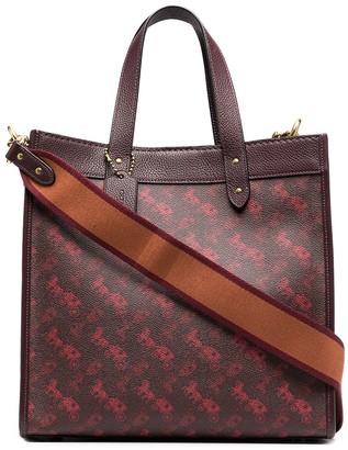 Coach Motif Pattern Tote Bag