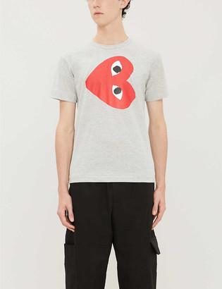 Comme des Garcons Logo-print cotton-jersey T-shirt