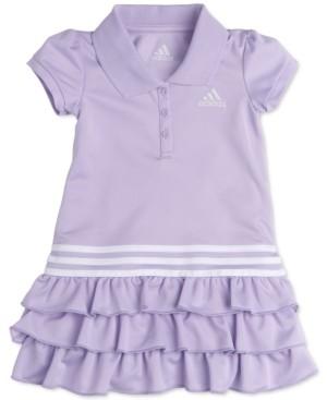 adidas Baby Girls Tiered Ruffle Polo Dress