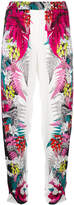 Just Cavalli tapered floral trousers