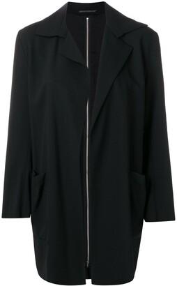 Yohji Yamamoto Pre-Owned zipped back boxy blazer