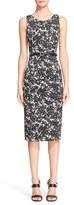 Michael Kors Women's 'August' Print Cotton Sateen Sheath Dress