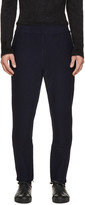 Jil Sander Navy Wool Knit Lounge Pants