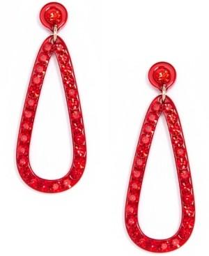 Zenzii Pave-Embellished Open Drop Earrings