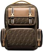 Fendi logo-print panelled backpack