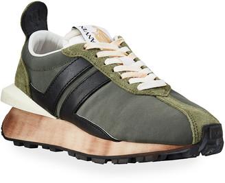 Lanvin Men's JL Runner Colorblock Sneakers