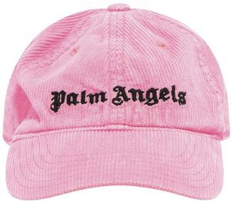 Palm Angels Logo Corduroy Baseball Hat