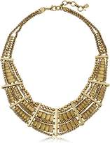 "Lucky Brand Gold Quartz Bib Necklace, 12"""