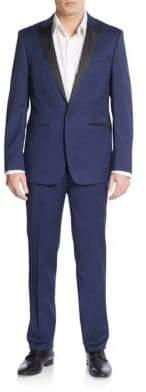 Calvin Klein Extreme Slim-Fit Solid Peak Lapel Tuxedo