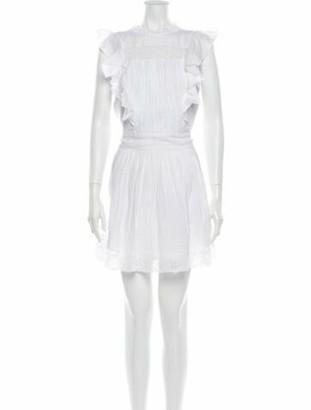 Frame Crew Neck Mini Dress White Crew Neck Mini Dress