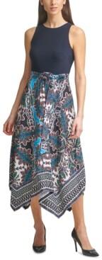 Thumbnail for your product : Vince Camuto Asymmetrical-Hem Midi Dress
