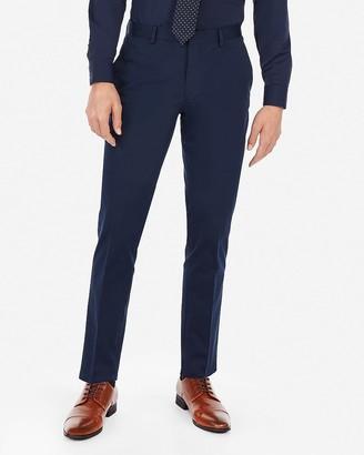 Express Extra Slim Navy Performance Stretch Cotton Blend Suit Pant