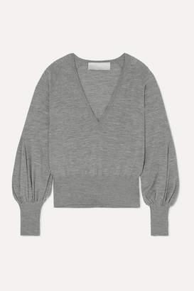 Antonio Berardi Merino Wool Sweater - Light gray