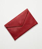 LOFT Luxe Leather Envelope Clutch
