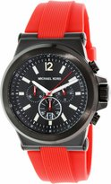 Michael Kors Men's Dylan MK8382 Red Rubber Quartz Watch