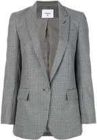 Dondup checked fitted jacket