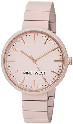 Nine West Women's NW/2012LPRG Matte Pastel Rubberized Bracelet Watch