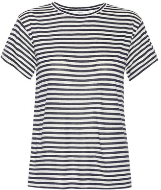 Vince Striped silk-blend T-shirt