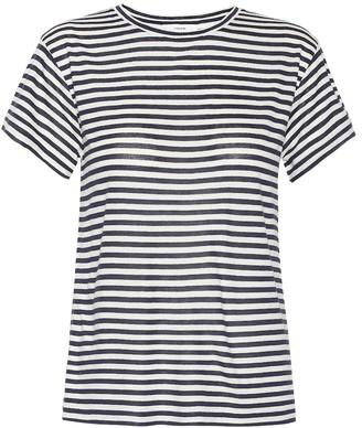 Vince Striped silk-blend T-shirt