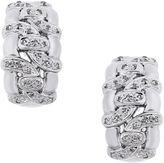 One Kings Lane Vintage 14K White Gold & Diamond J Hoop Earrings
