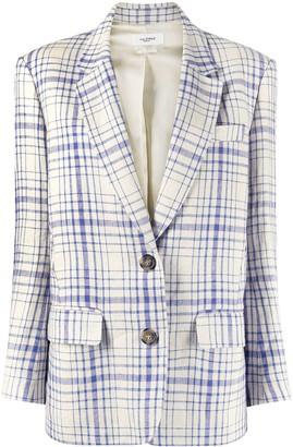 Etoile Isabel Marant Checked Linen Blazer