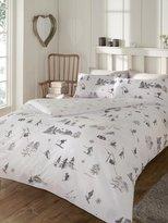 M&Co Brushed cotton ski print duvet set