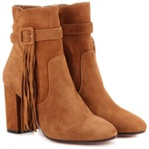 Aquazzura Christina 85 suede ankle boots